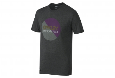 t shirt oakley factory pilot circle noir xl