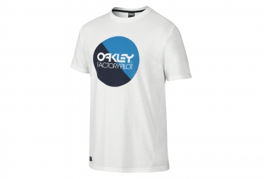 t shirt oakley factory pilot circle blanc xl