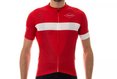 Maillot Manches Courtes ISANO 2016 CLASSIQUE Rouge Blanc