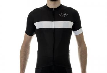maillot manches courtes isano classique noir blanc xl