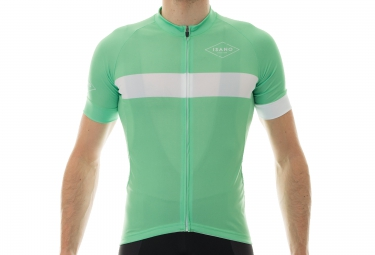 maillot manches courtes isano classique vert blanc xl
