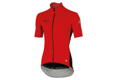 maillot manches courtes castelli perfetto rouge l