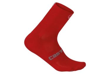 chaussettes castelli quattro 9 rouge 44 47