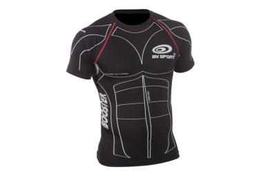 maillot manches courtes de compression bv sport noir xs