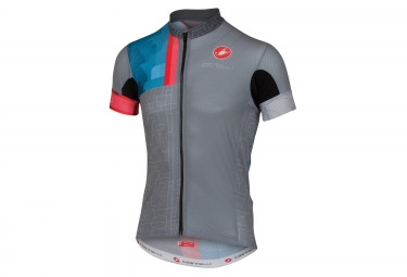 maillot manches courtes castelli rodeo gris s