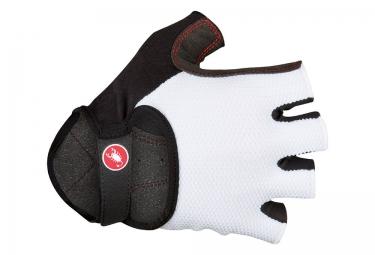gants courts castelli pista blanc s