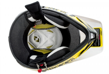 casque integral one industries atom phantom rockstar noir jaune xxl 63 65 cm