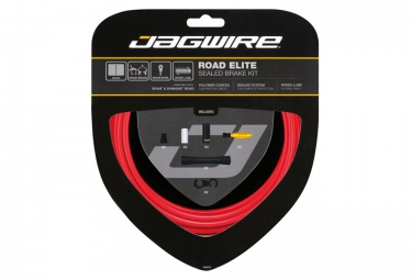 kit cables gaines de freins complet jagwire road elite sealed rouge