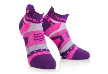COMPRESSPORT Socks ULTRALIGHT RUN LOW RUN Pink Purple