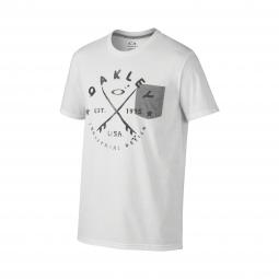 t shirt oakley stoked blanc m