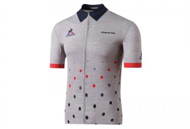 maillot manches courtes le coq sportif pro etape du tour gris bleu rouge xl