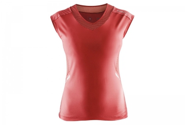 maillot manches courtes femme craft focus rouge m