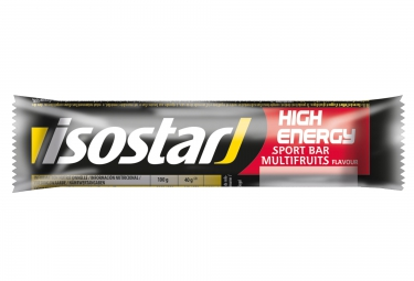 Isostar barre energetique high energy multi fruits 40g