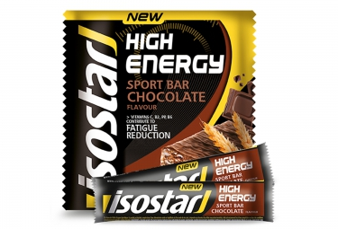 Isostar barres energetiques high energy chocolat 3x35g