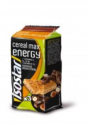 Barres Energétique Isostar Cereal Max Noisette Chocolat 3x55g