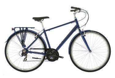 velo de ville raleigh pioneer 1 crossbar shimano revo 18v bleu 17 pouces 162 172 cm