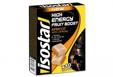 Isostar tablettes high energy fruit boost abricot 10x10g