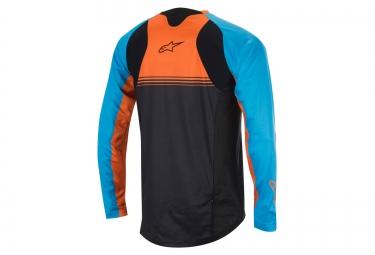 maillot manches longues alpinestars 2016 mesa bleu orange s