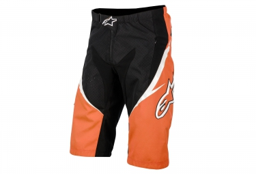 short alpinestars sight orange noir 32
