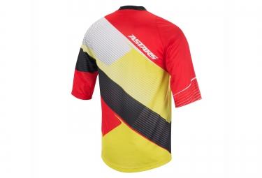maillot manches 3 4 alpinestars depth rouge jaune s