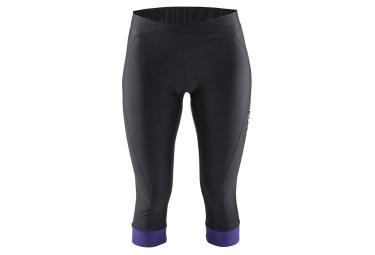 craft cuissard velo 3 4 sans bretelles femme move knicker noir violet xs