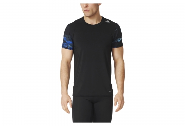 maillot manches courtes adidas techfit base noir bleu xl