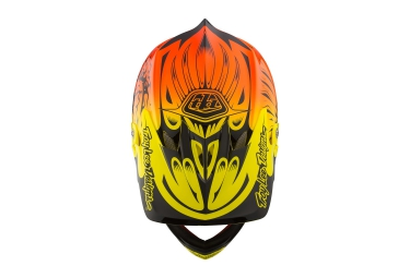 Casque Intégral TROY LEE DESIGNS D3 CARBON MIPS RAVAGE 2016 Orange Jaune