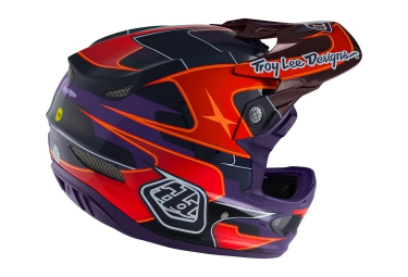 Casco Integral Troy Lee Designs D3 CARBON Rouge / Violet