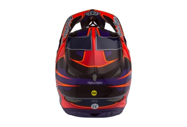 Casque Intégral TROY LEE DESIGNS D3 CARBON MIPS RENDER 2016 Violet Rouge