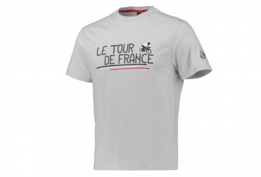 t shirt le tour de france chaine de velo gris xl