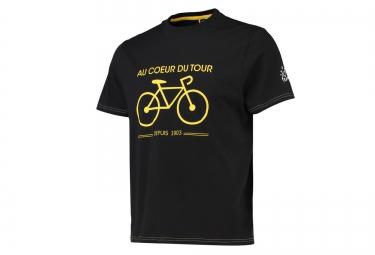 T-shirt LE TOUR DE FRANCE AU COEUR DU TOUR Noir