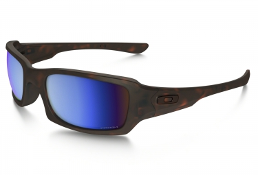 lunettes oakley fives squared marron prizm h2o polarise ref oo9238 17