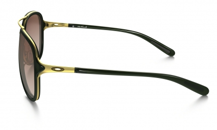 lunettes femme oakley kickback noir or pink oo4102 11