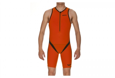 Combinaison de triathlon arena carbon pro orange noir s tall