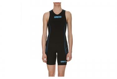 combinaison de triathlon femme arena st noir bleu l