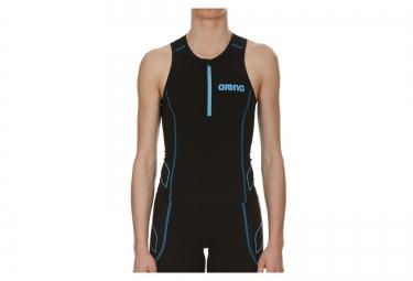 Haut de triathlon femme arena tritop st noir bleu l