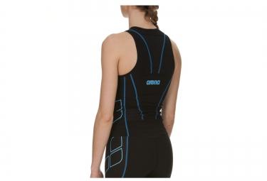 haut de triathlon femme arena tritop st noir bleu s
