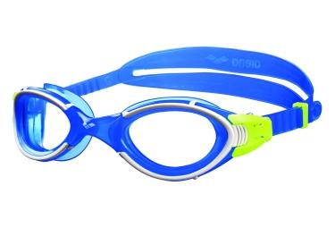 lunettes de natation arena nimesis blanc bleu jaune