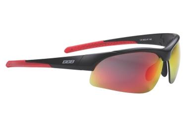Lunettes de cyclisme bbb impress noir rouge