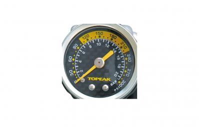 pompe a main hp topeak pocketshock dxg 20 7bar avec manometre gris