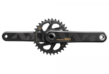 pedalier sram xx1 eagle avec plateau direct mount 32 dents boitier gxp non inclus or 170