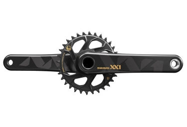 pedalier sram xx1 eagle avec plateau direct mount 32 dents boitier bb30 non inclus or 175