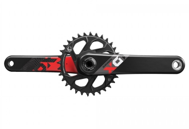 pedalier sram x01 eagle avec plateau direct mount 32 dents boitier gxp non inclus rouge 175