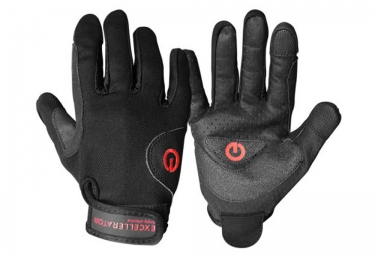 Gants Cross Fit EXCELLERATOR WORK OUT Cuir Noir Rouge