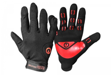 Cross Training Gloves EXCELLERATOR WORK OUT Negro Rojo