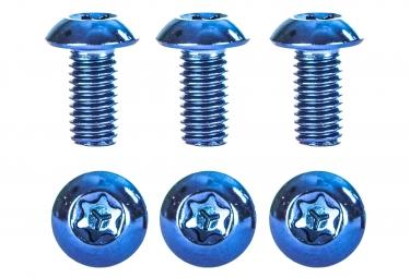 Kit de 6 Vis de Disque NEATT Inox M5x10mm Bleu