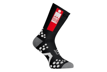 Paire de chaussettes compressport pro racing socks v2 1 bike ironman noir 35 38