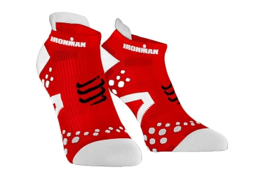 paire de chaussettes compressport pro racing socks v2 1 run ironman rouge 35 38