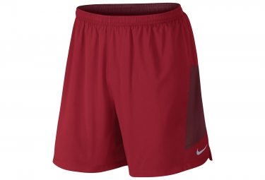 NIKE Short 2-en-1 PURSUIT 2-in-1 18cm Rouge Homme