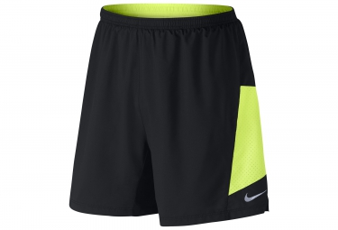 Short 2 en 1 homme nike pursuit 2 in 1 18cm noir s